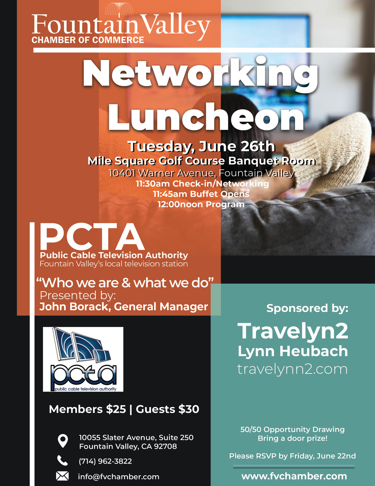 Fountain Valley Chamber Networking Luncheon PCTA