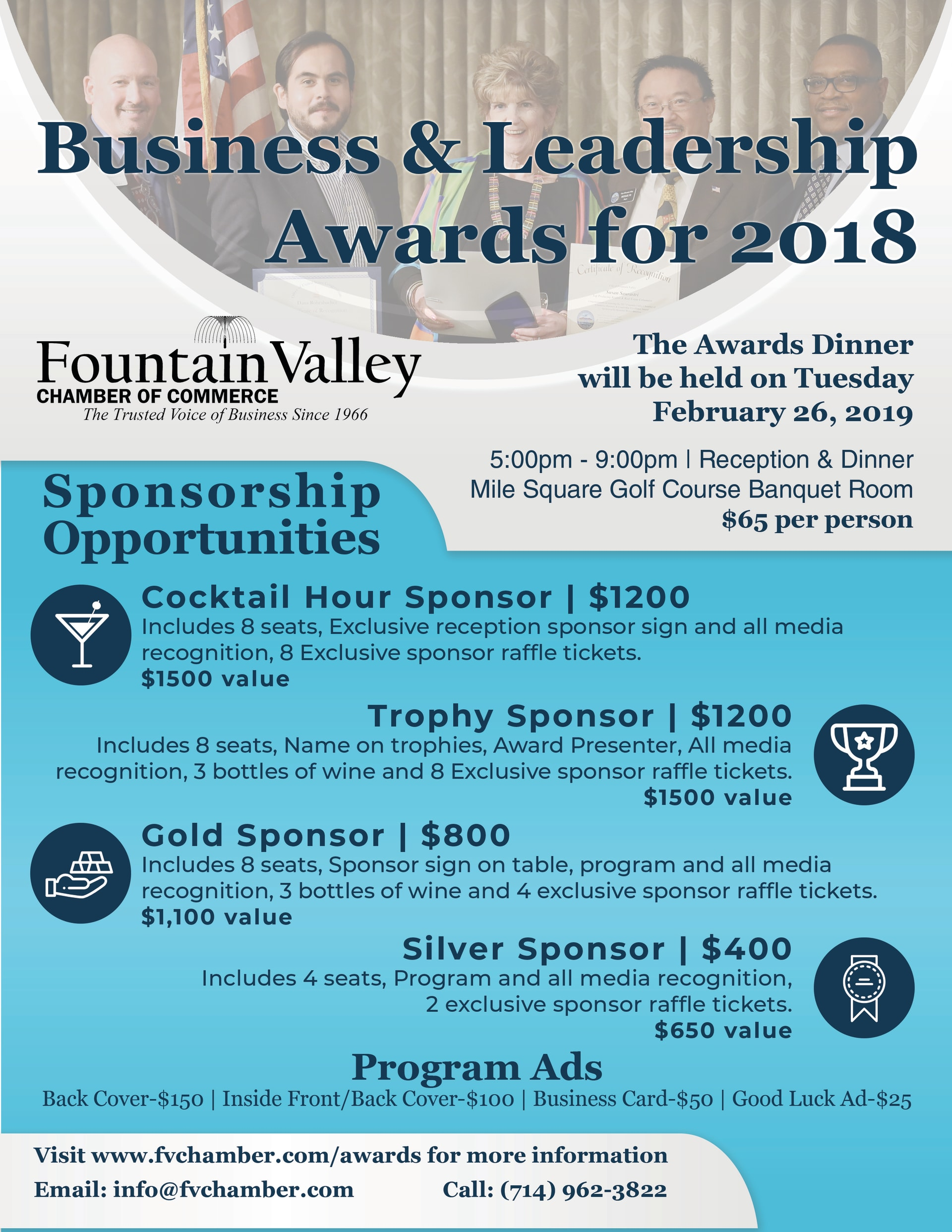 Fountain Valley Business and Leadership Awards