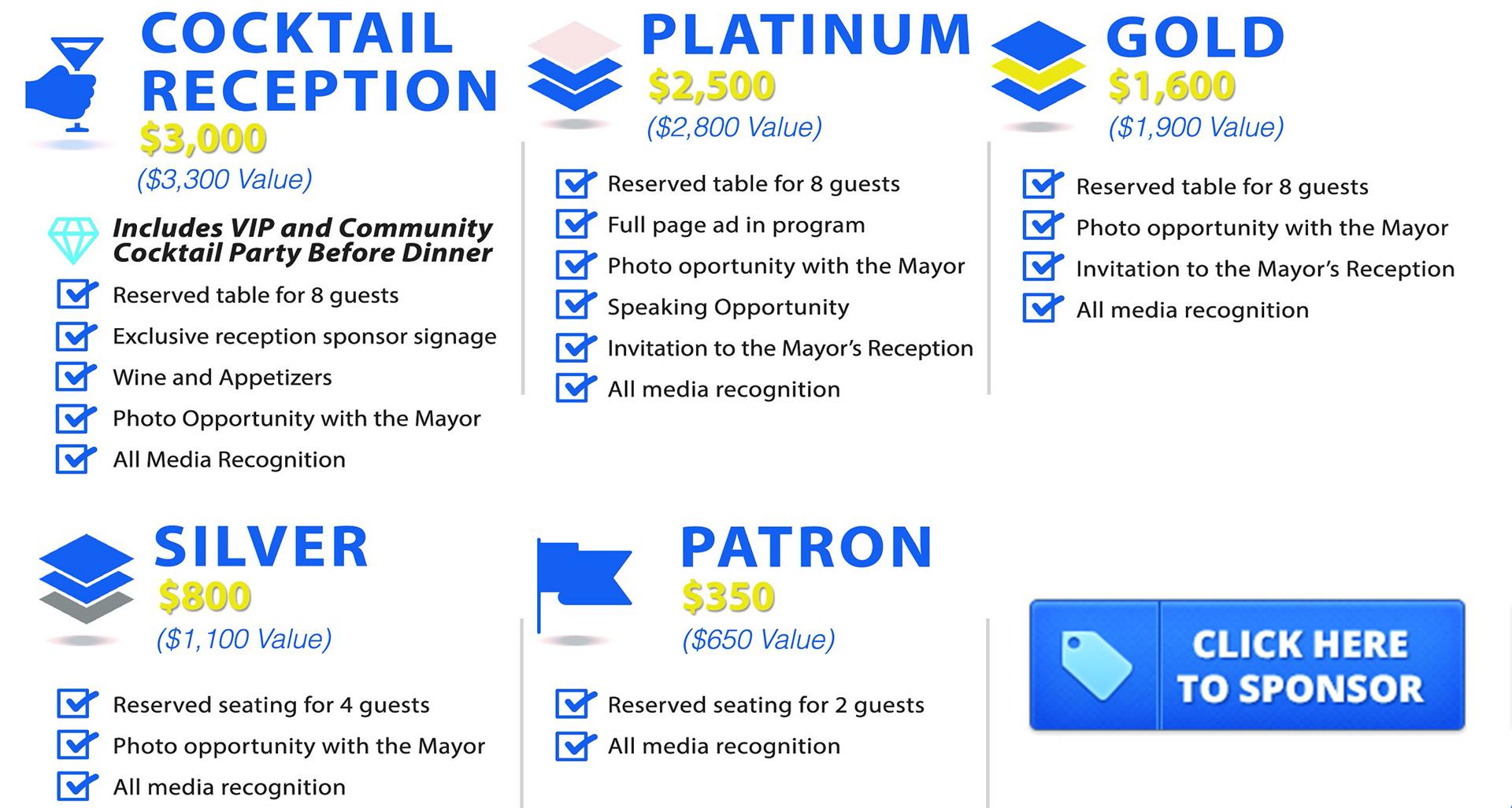 Mayor's Ball Sponsorship Packages