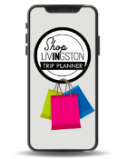 Shop IN Livingston Logo shopping bag