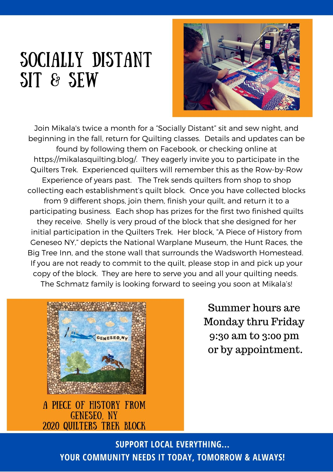 Mikala's Quilting Member Momentum piece page 2