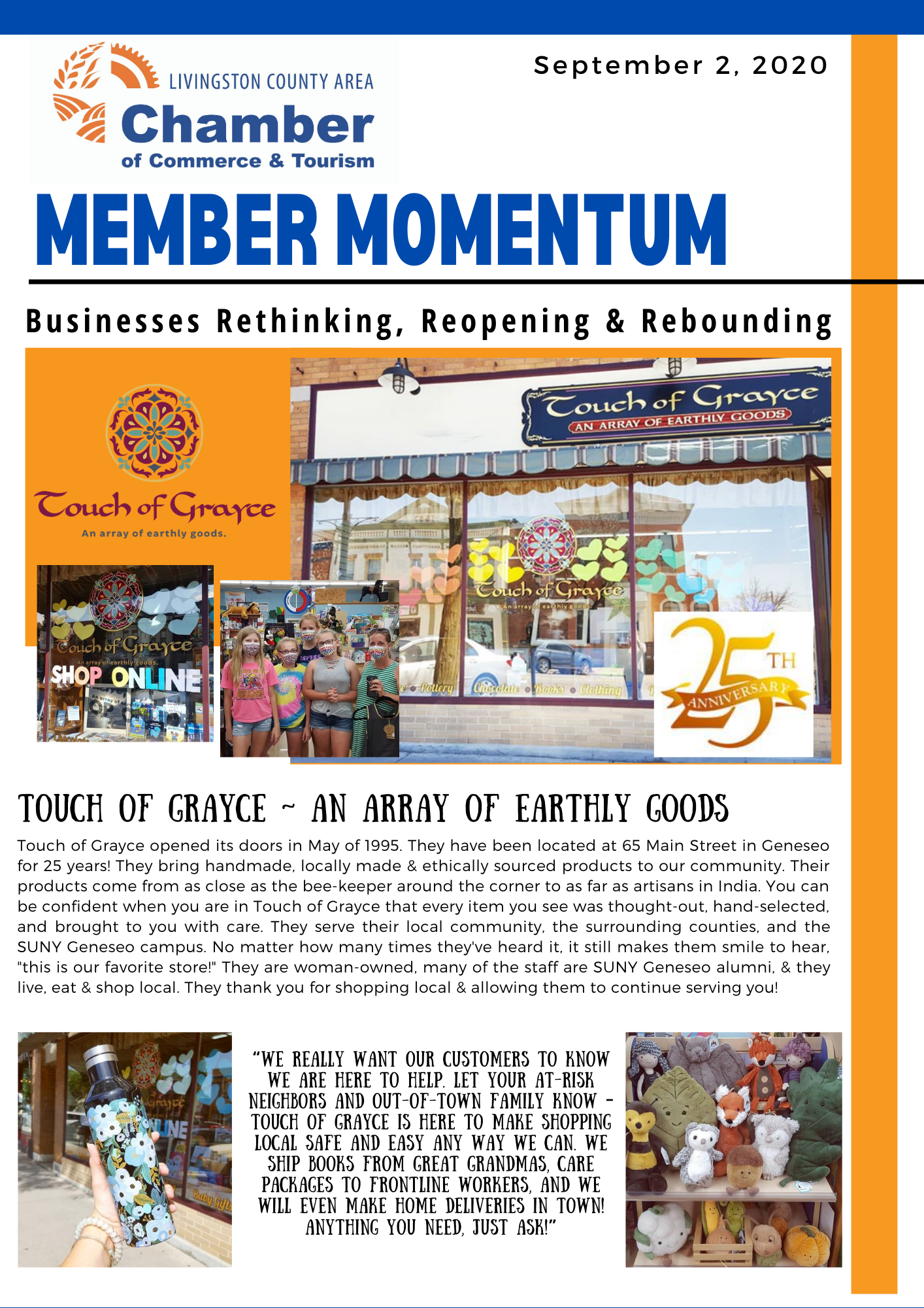 Touch of Grayce Member Momentum Article Page 1