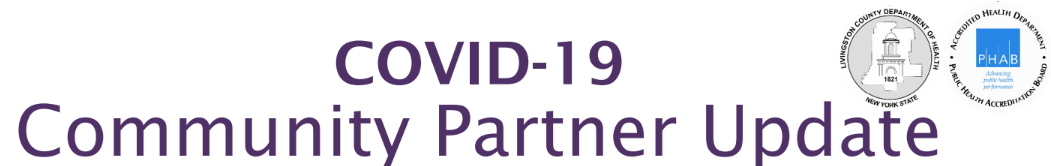 COVID-19 Community Partner Update Page