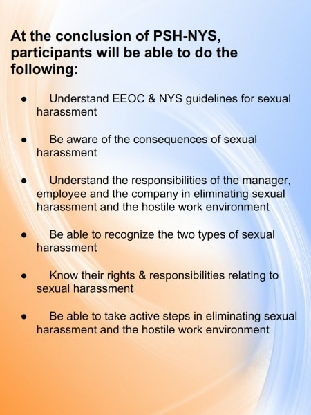 New York State Sexual Harassment - Online Training