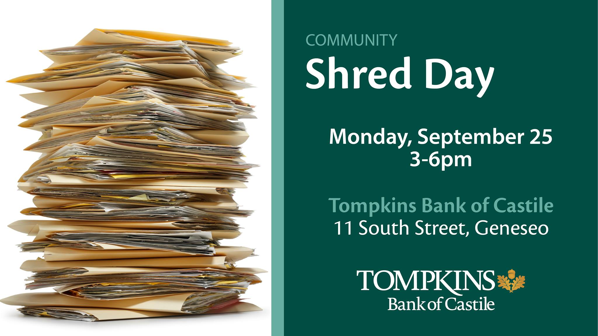 Bank of Castile Community Shred Day