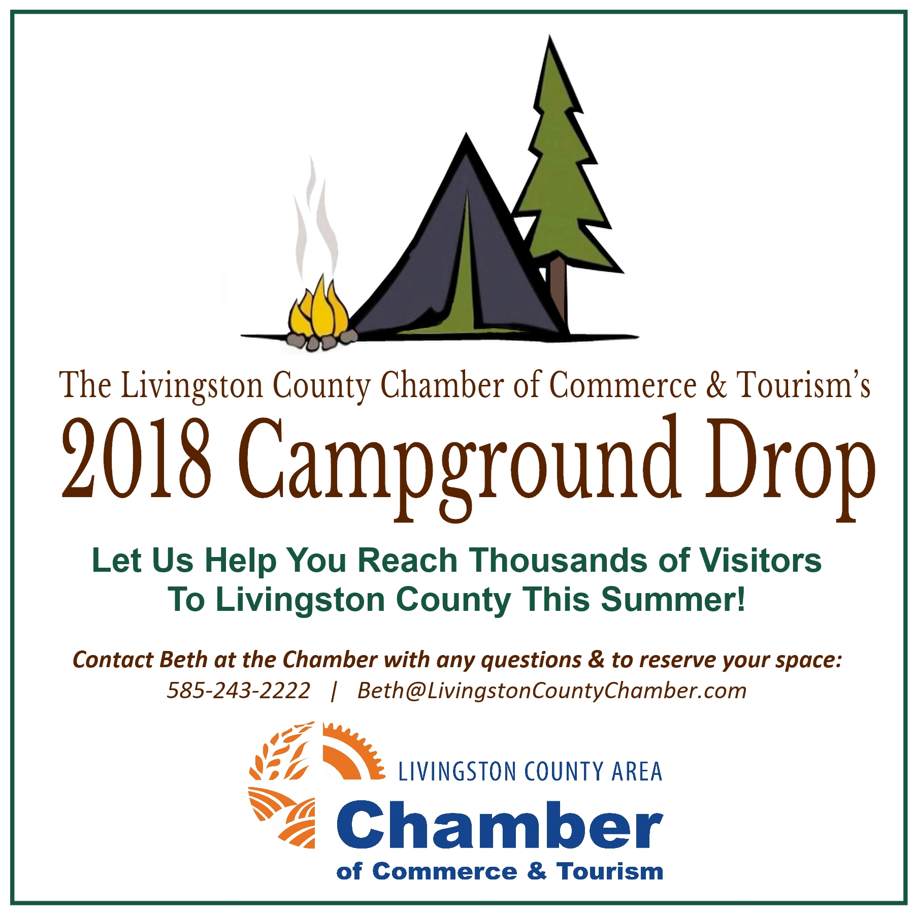 Livingston County Chamber of Commerce & Tourism, Campground Marketing