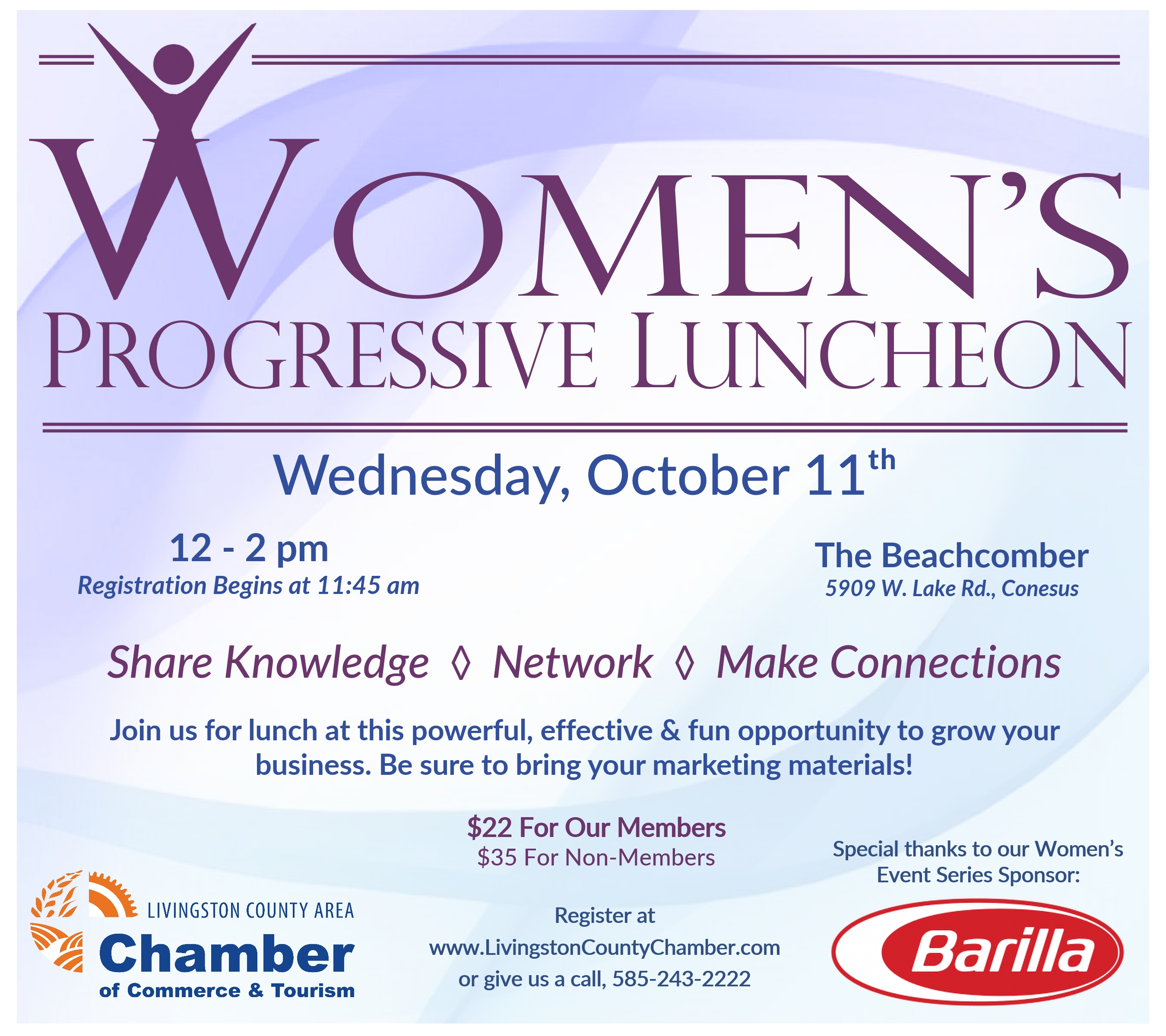 Livingston County Chamber's Women's Progressive Luncheon