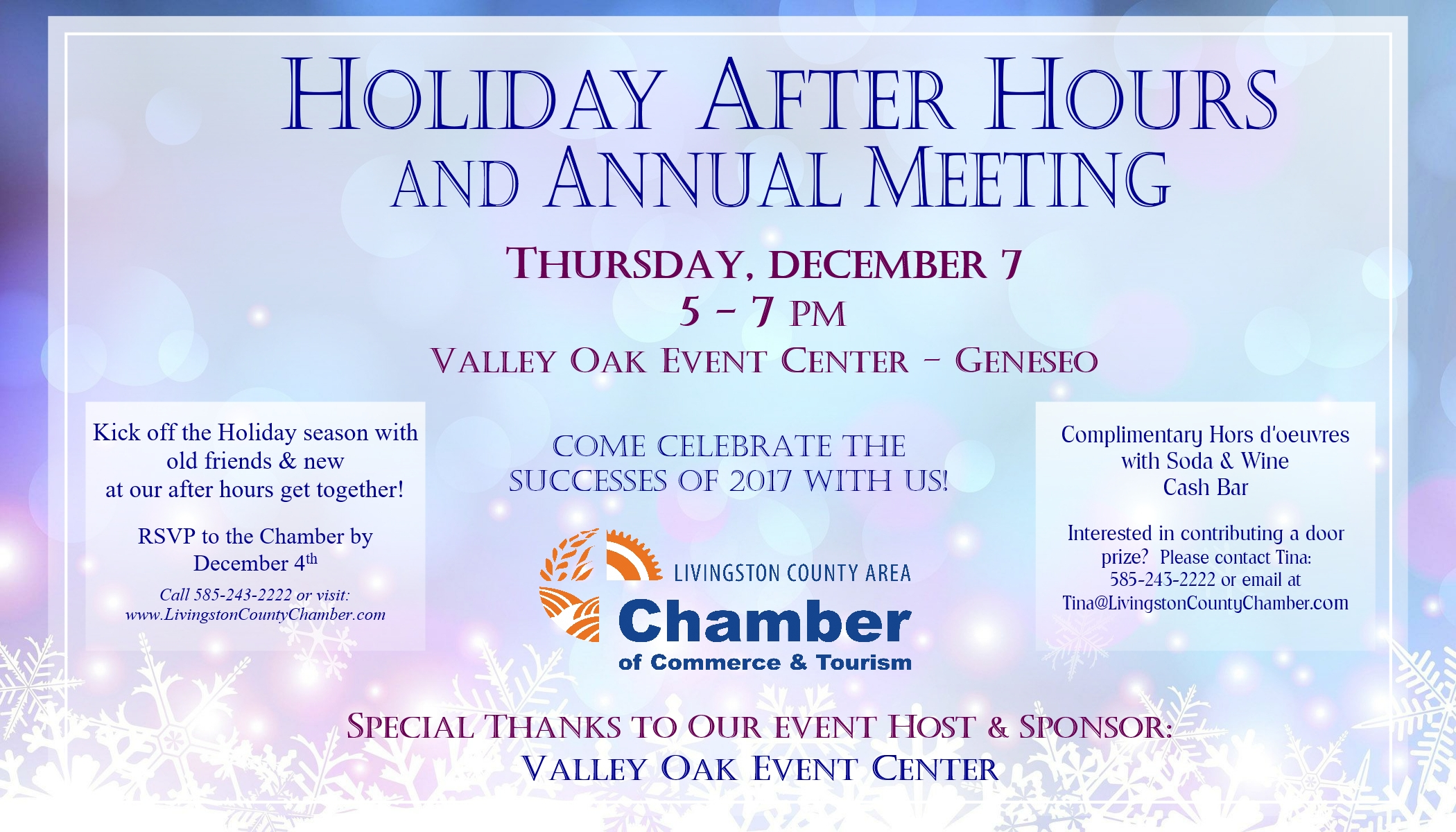 Livingston County Chamber Holiday After Hours 2017