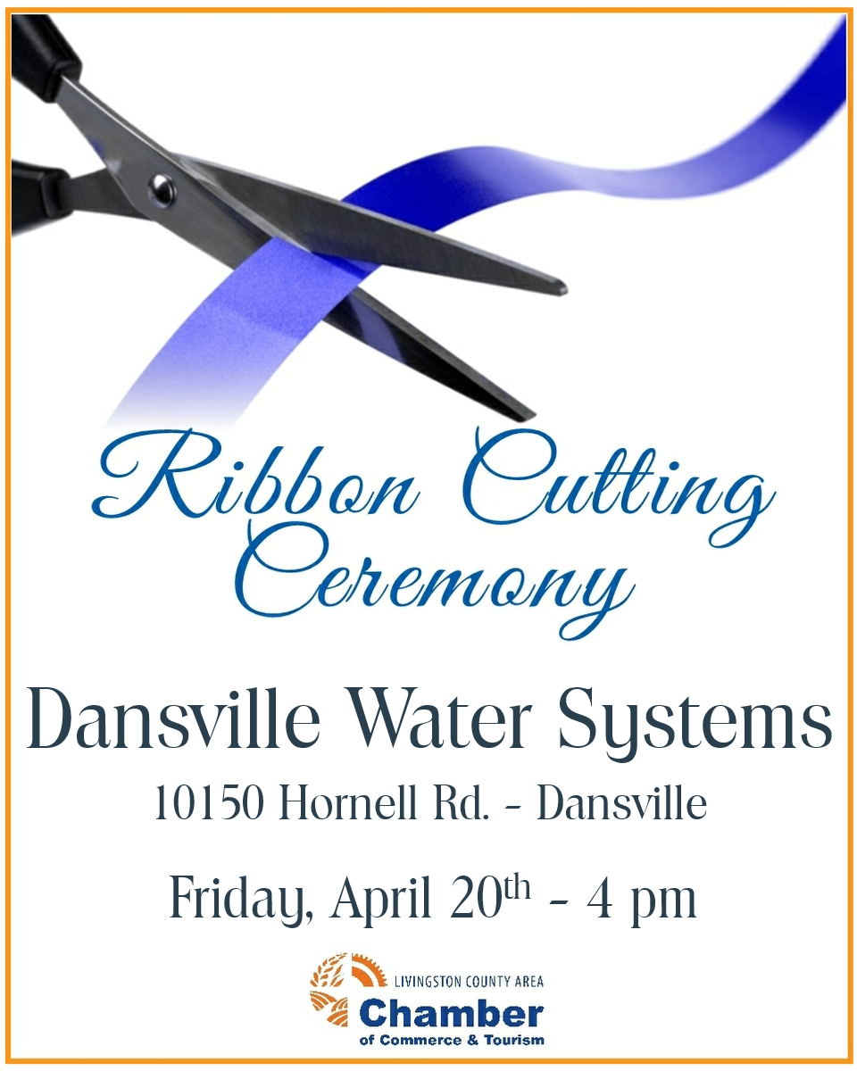 Livingston County Chamber, Ribbon Cutting, Dansville Water Systems