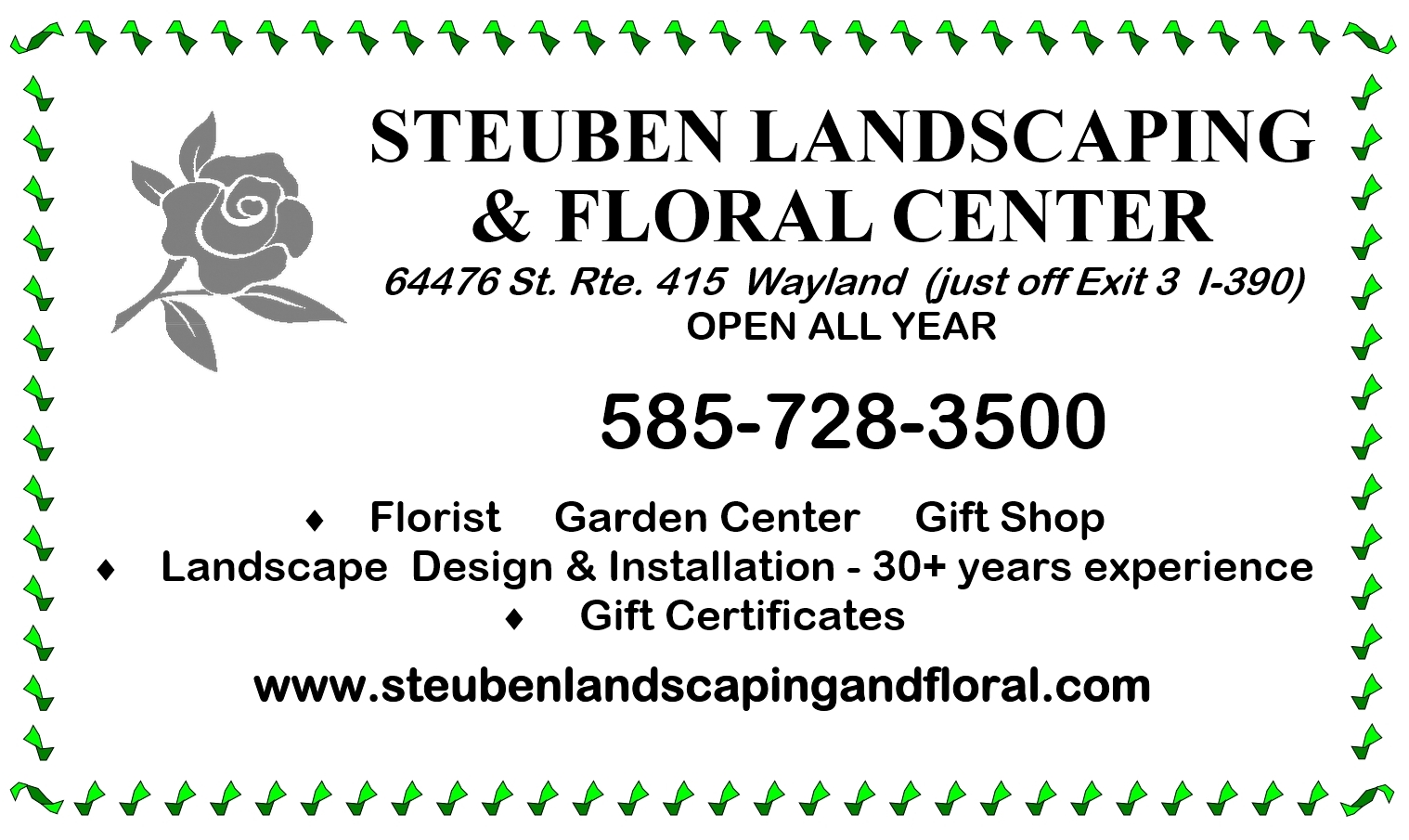 Steuben Landscaping & Floral Center, Livingston County Chamber of Commerce, Shop Local, Chamber Factor