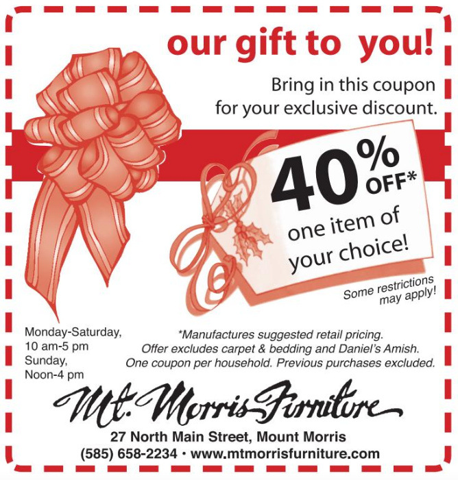 Mt Morris Furniture, Shop IN Livingston, Shop Locally, Livingston County Chamber, Trip Planner