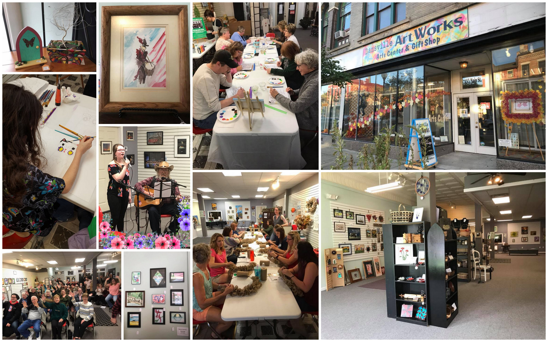 Dansville ArtWorks, Livingston County, Gift Shop, Classes, Live Music,