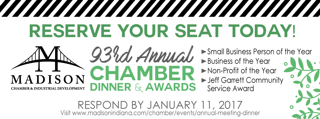 Madison Indiana Business Award - Chamber Annual Dinner
