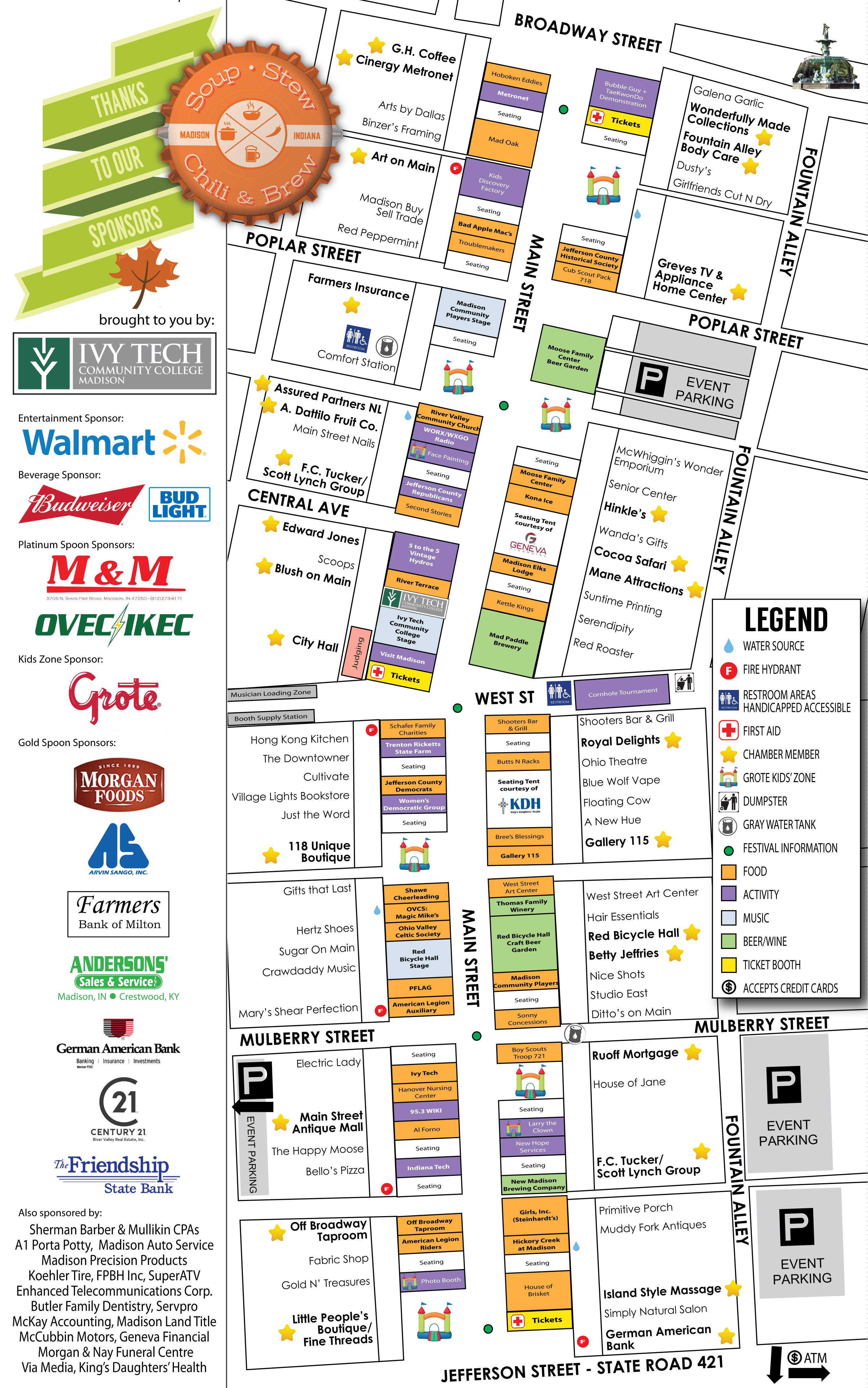 Festival Map Madison Indiana Soup Stew Chili & Brew 2019