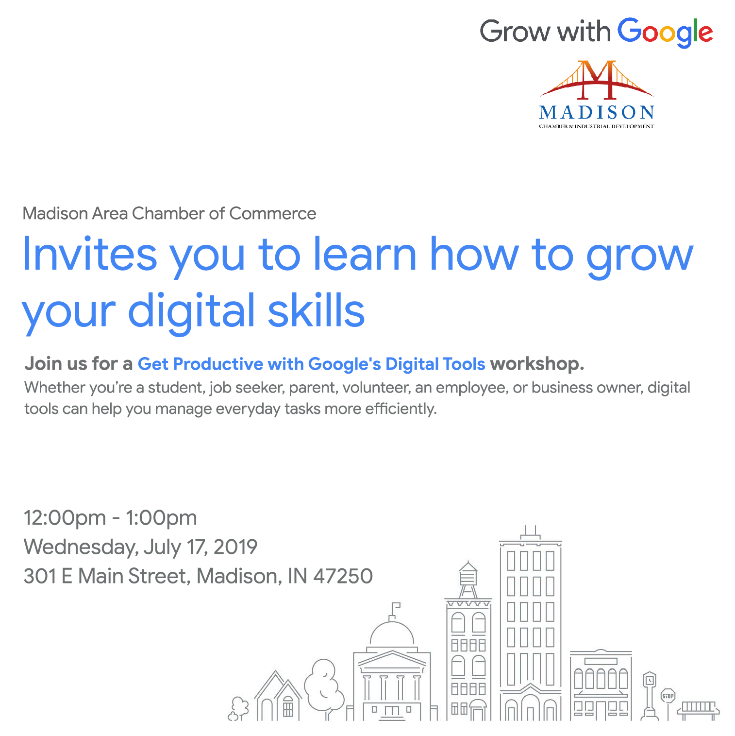 Google Digital Skills Tools Madison Indiana Business