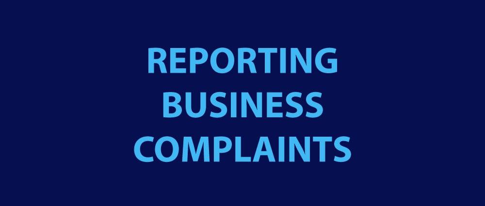 REPORTING BUSINESS COMPLAINTS MADISON IN CORONAVIRUS COVID-19