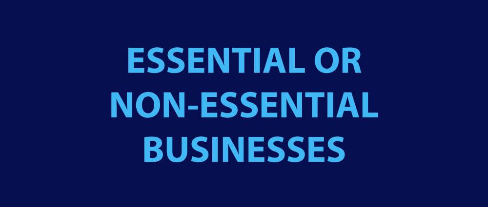 ESSENTIAL BUSINESS NON-ESSENTIAL MADISON IN CORONAVIRUS COVID-19