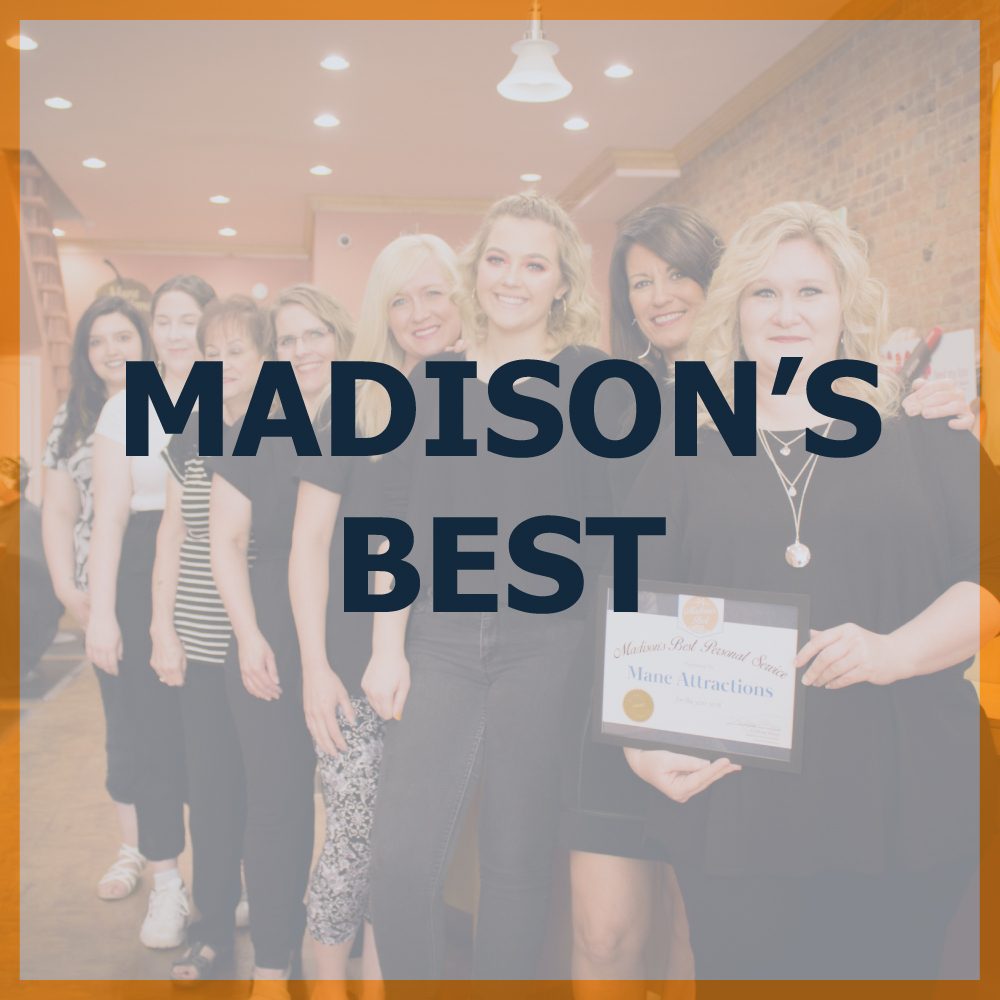 BEST of Madison area businesses! Madison's Best Restaurants, Madison's Best Shop, Madison's Best School, Madison's Best Dentist, Madison's Best Apartments, Madison's Best Lodging, Madison's Best Attorney Lawyer, Madison's Best Insurance Provider, Madison's Best Bank, Madison's Best HVAC Heating & Cooling Service, Madison's Best Construction or Contractor
