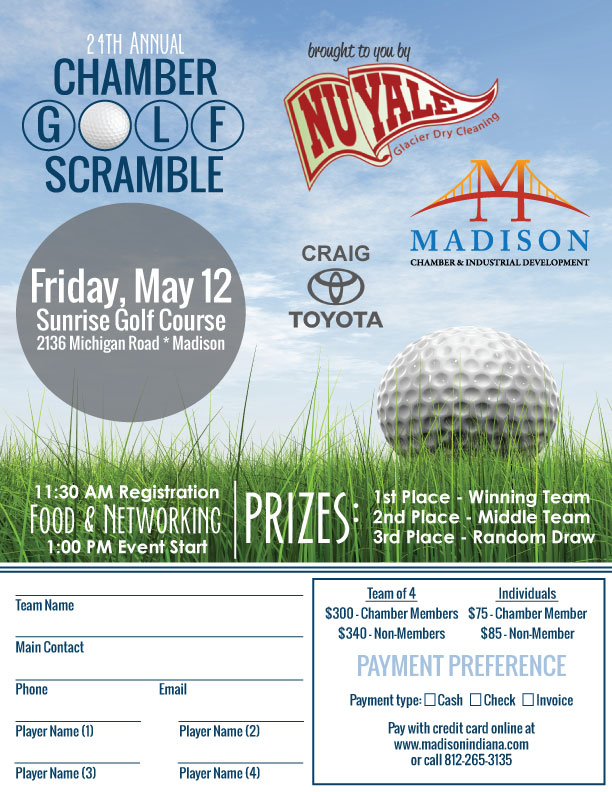 Madison Indiana Chamber Golf Scramble Outing Business Networking