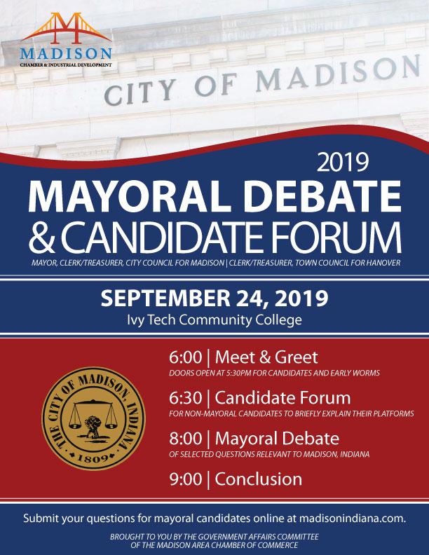 Madison Indiana Mayor Debate Forum Government
