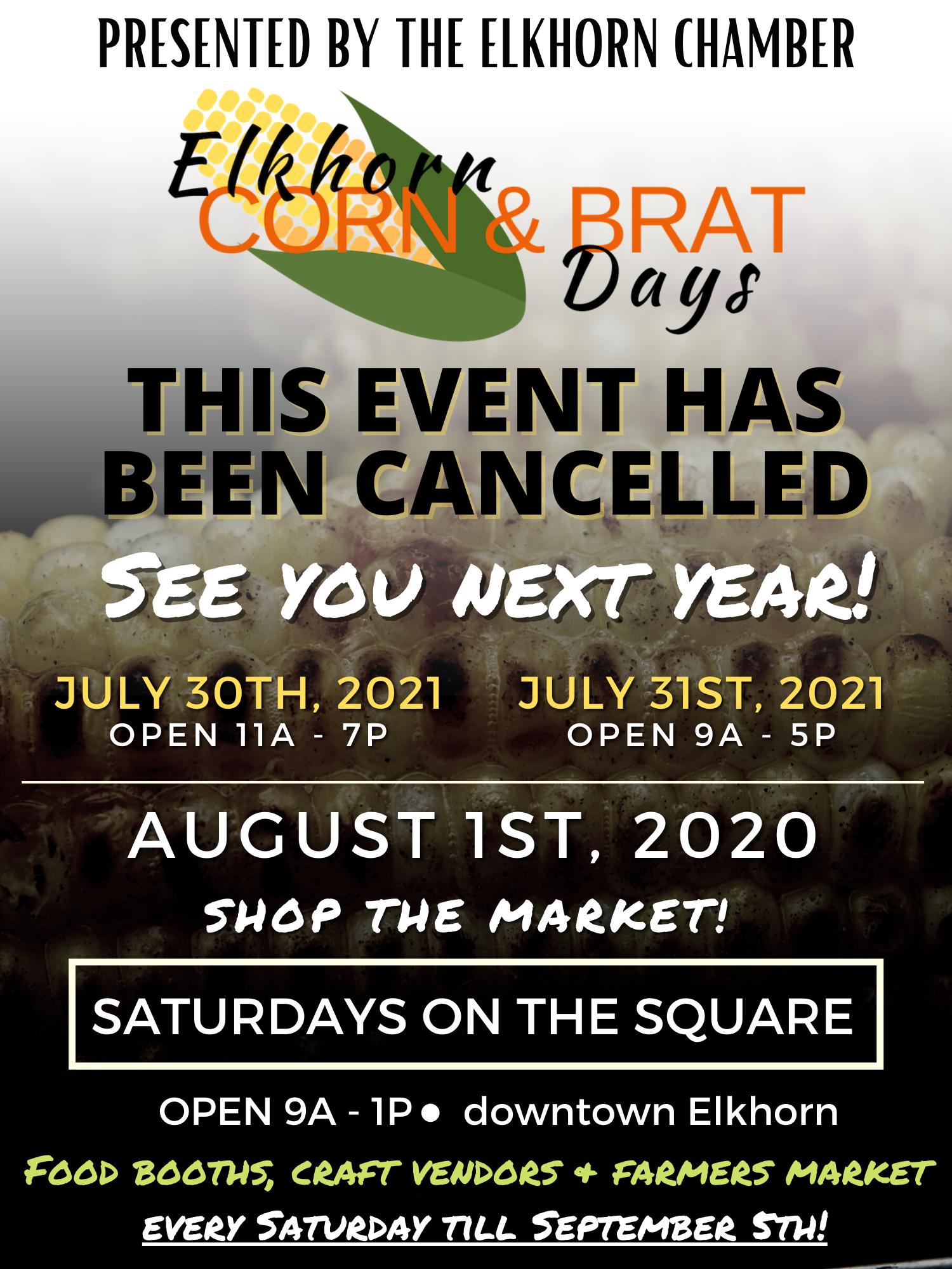 Elkhorn Christmas Parade 2020 Corn & Brat Days ~ formally Festival of Summer   Elkhorn Area