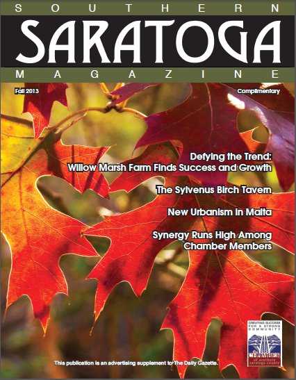 Southern Saratoga Magazine - Fall 2013 Cover