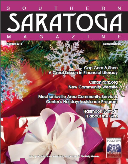 Southern Saratoga Magazine - Holiday 2013 Cover