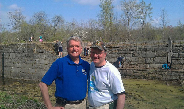 Lock 19 Clean Up with Canal Commissioner Brian Stratton