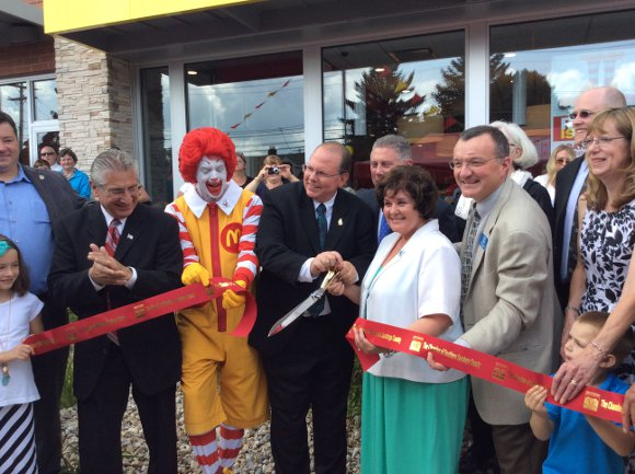 Ribbon Cutting at McDonalds in Waterford on Aug 6 2014