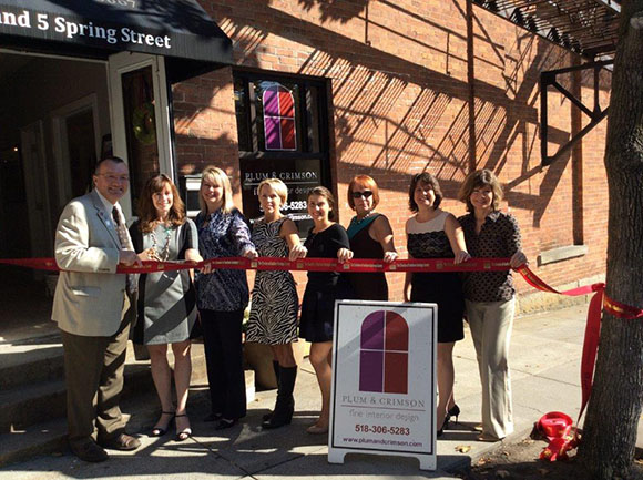 Ribbon Cutting for Plum and Crimson at 5 Spring St. Saratoga Springs