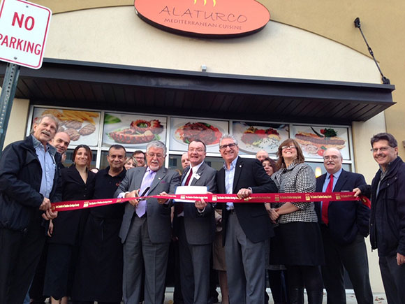 A ribbon cutting was held to kick off the Grand Opening of Alaturco Mediterranean Cuisine in Clifton Park on Nov 16, 2016.
