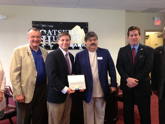 Ribbon cuttnig for Catskill Hudson Bank on 5/11/2016