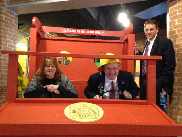 Firetruck Exhibit at the Children's Museum at Saratoga Ribbon Cutting 1/19/2017