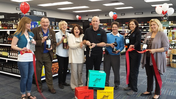Ribbon cutting for Exit 8 Liquors
