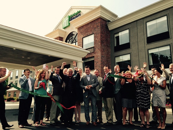 A Ribbon Cutting to kick off the newly renovated rooms at the Holiday Inn Express in Clifton Park was held on Jul 7, 2016.