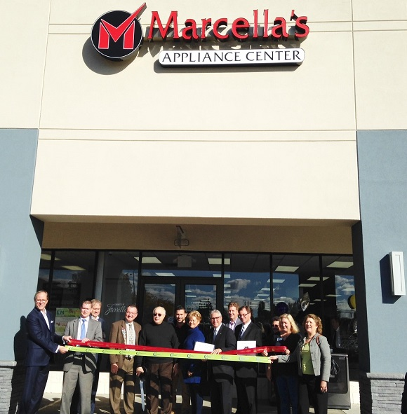 Ribbon Cutting for Grand Opening of Marcella's Appliance Center 10-14-2016