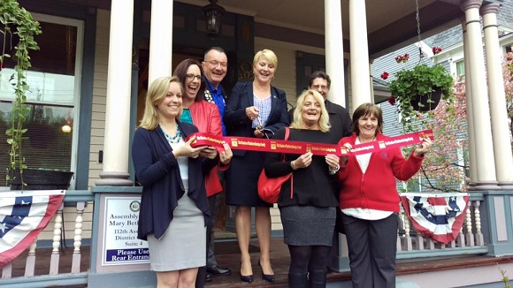 A ribbon cutting was held to celebrate the opening of the office of Assemblywoman Mary Beth Walsh in Ballston Spa.
