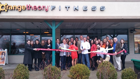 Ribbon Cutting for Orangetheory Fitness Clifton Park, NY, April 6, 2017