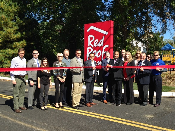 A ribbon cutting to Celebrate the unveiling of a new entrance sign, there have been both interior and exterior renovations completed at the Red Roof Inn in Clifton Park.