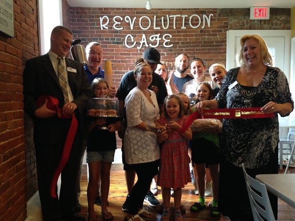 A very special ribbon cutting was held to kick off the Grand Opening of Revolution Café at 31 Ferry Street, Schuylerville.