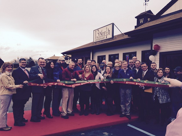 A ribbon cutting for the Grand Opening of 13 North Restaurant located at 2955 State Route 9, Malta.