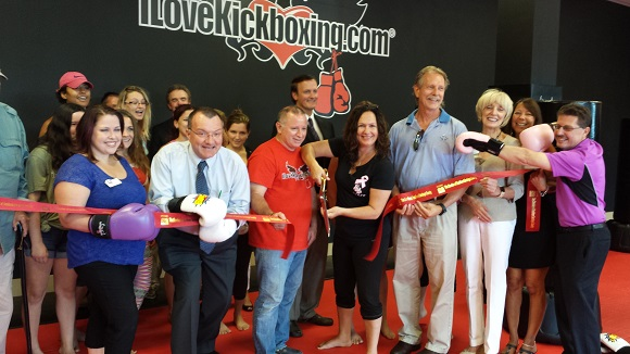 A ribbon cutting to celebrate the Grand Opening of I Love Kick Boxing, located at 22 Clifton Country Rd/Clifton Park Center.