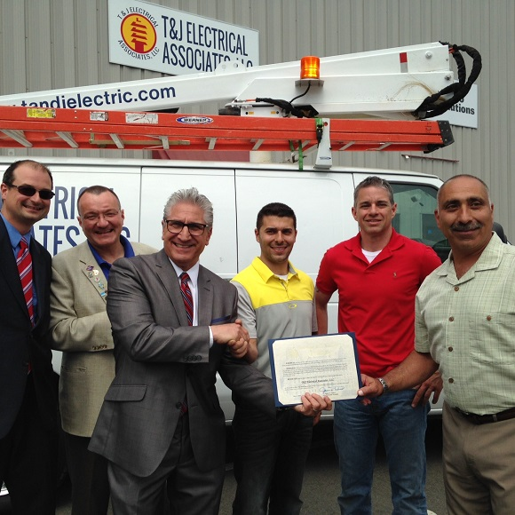 Ribbon Cutting fof T&J Electrical Associates, LLC. June 3, 2016