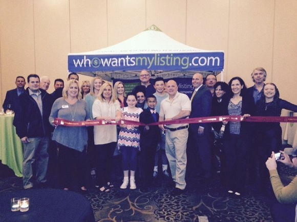 Ribbon cutting for WhoWantsMyListing.com in Rexford, NY on May 10, 2017