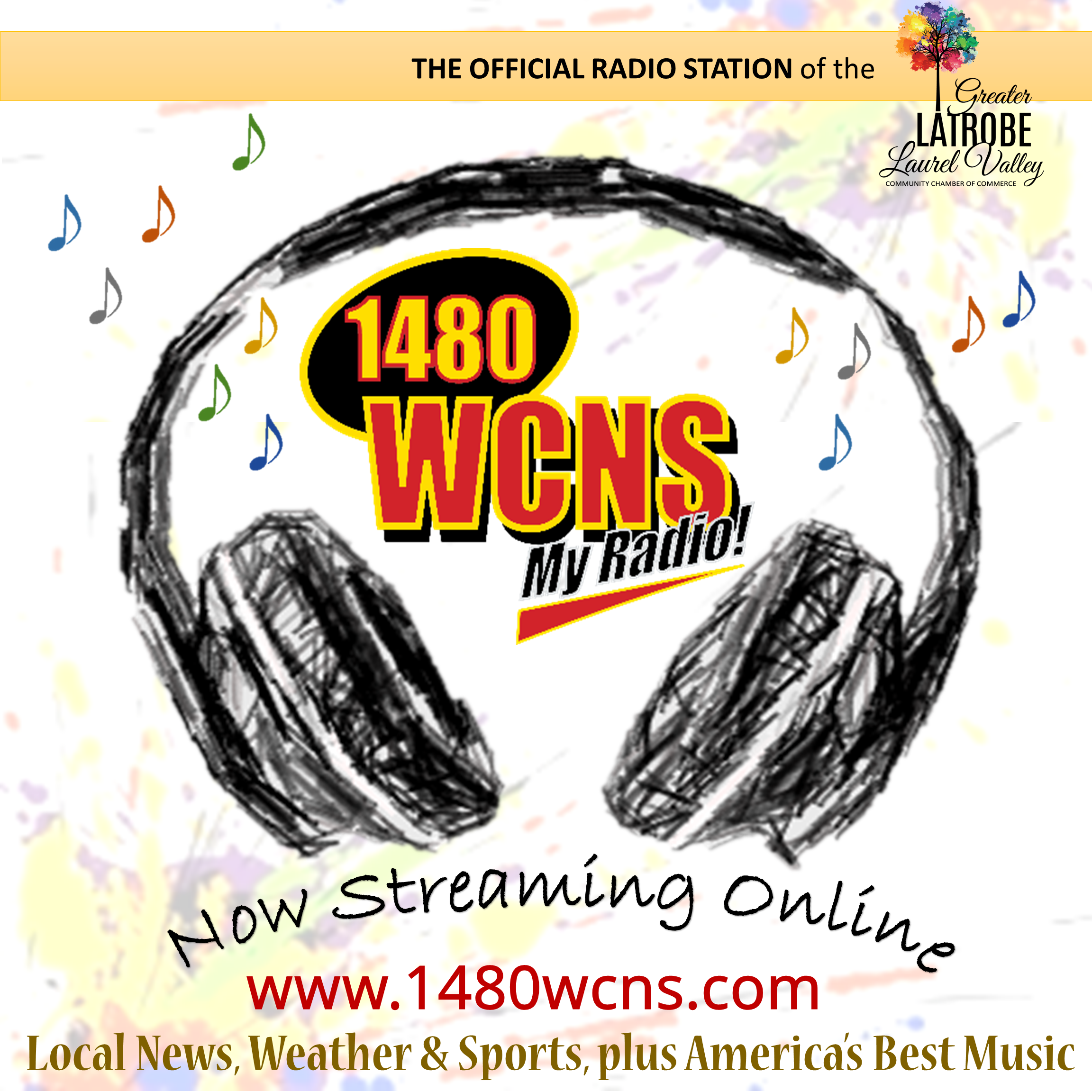 1480 WCNS the OFFICIAL Radio Station of the GLLV Chamber