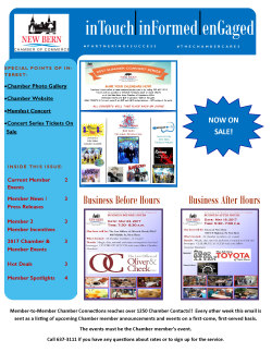 chamber news letter e connections