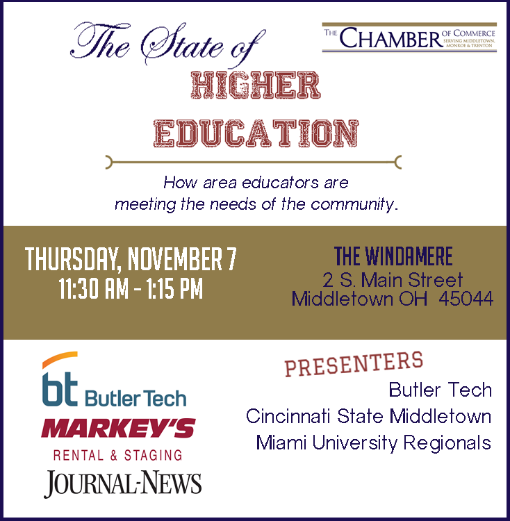 http://www.thechamberofcommerce.org/events/details/the-state-of-higher-education-2900