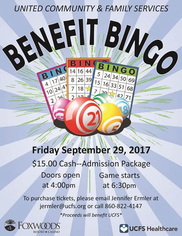 Ucfs Benefit Bingo At Foxwoods Sept 29 Chamberect
