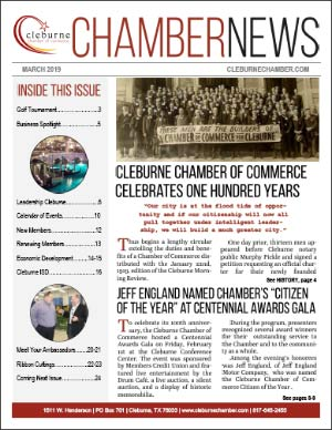 March 2019 Cover of ChamberNEWS