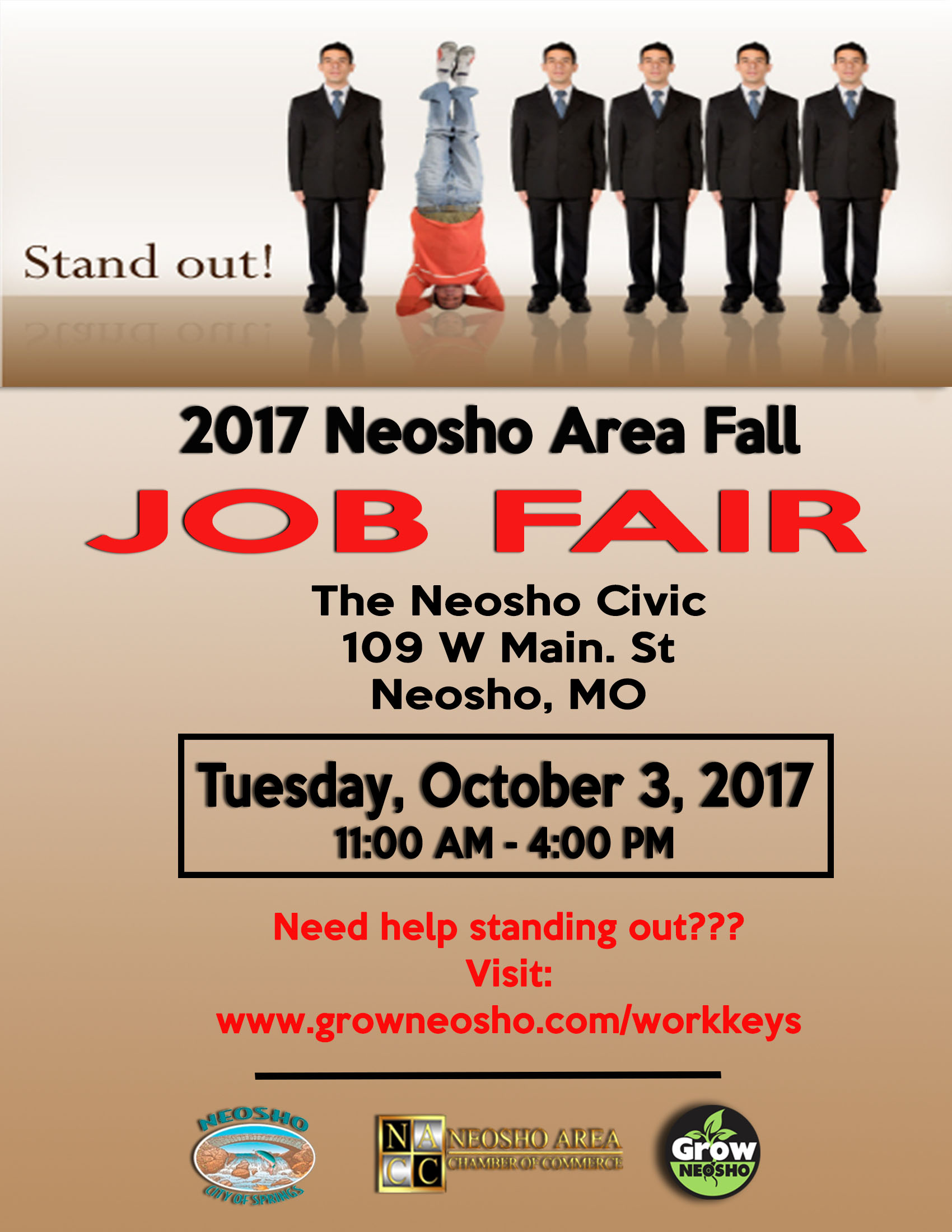 2017 neosho area fall job fair neosho area chamber of commerce mo career readiness certificate the ncrc could be the key to obtaining a great job for more information please contact lauri lyerla executive director xflitez Image collections